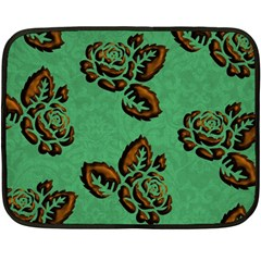 Chocolate Background Floral Pattern Fleece Blanket (mini)