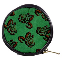 Chocolate Background Floral Pattern Mini Makeup Bags