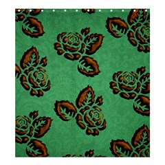 Chocolate Background Floral Pattern Shower Curtain 66  X 72  (large)