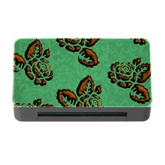 Chocolate Background Floral Pattern Memory Card Reader With Cf