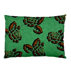 Chocolate Background Floral Pattern Pillow Case (two Sides)