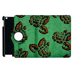 Chocolate Background Floral Pattern Apple Ipad 3/4 Flip 360 Case