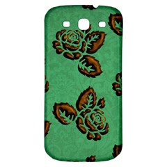 Chocolate Background Floral Pattern Samsung Galaxy S3 S Iii Classic Hardshell Back Case