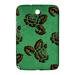 Chocolate Background Floral Pattern Samsung Galaxy Note 8 0 N5100 Hardshell Case
