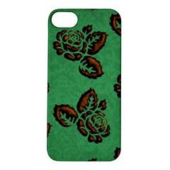 Chocolate Background Floral Pattern Apple Iphone 5s/ Se Hardshell Case