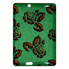 Chocolate Background Floral Pattern Amazon Kindle Fire Hd (2013) Hardshell Case