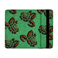 Chocolate Background Floral Pattern Samsung Galaxy Tab Pro 8 4  Flip Case