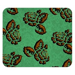 Chocolate Background Floral Pattern Double Sided Flano Blanket (small)