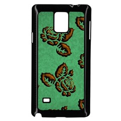 Chocolate Background Floral Pattern Samsung Galaxy Note 4 Case (black)