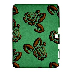 Chocolate Background Floral Pattern Samsung Galaxy Tab 4 (10 1 ) Hardshell Case