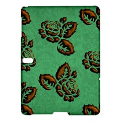 Chocolate Background Floral Pattern Samsung Galaxy Tab S (10 5 ) Hardshell Case