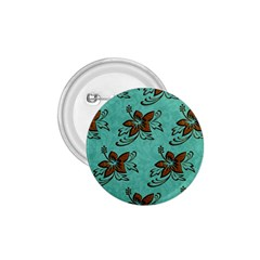 Chocolate Background Floral Pattern 1 75  Buttons