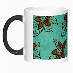 Chocolate Background Floral Pattern Morph Mugs