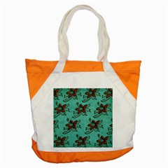 Chocolate Background Floral Pattern Accent Tote Bag