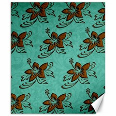 Chocolate Background Floral Pattern Canvas 8  X 10