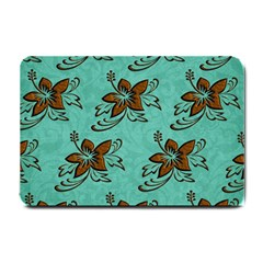 Chocolate Background Floral Pattern Small Doormat