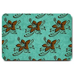 Chocolate Background Floral Pattern Large Doormat