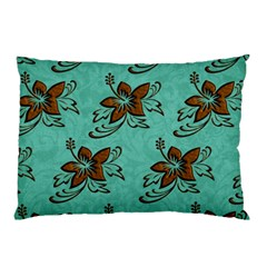 Chocolate Background Floral Pattern Pillow Case