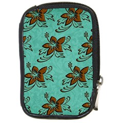Chocolate Background Floral Pattern Compact Camera Cases