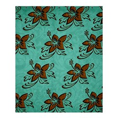 Chocolate Background Floral Pattern Shower Curtain 60  X 72  (medium)