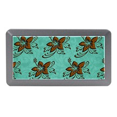 Chocolate Background Floral Pattern Memory Card Reader (mini)