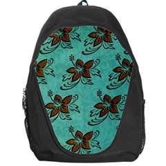 Chocolate Background Floral Pattern Backpack Bag