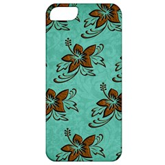 Chocolate Background Floral Pattern Apple Iphone 5 Classic Hardshell Case