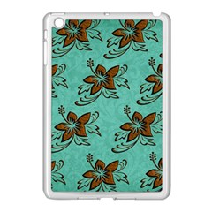 Chocolate Background Floral Pattern Apple Ipad Mini Case (white)