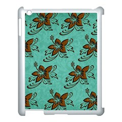 Chocolate Background Floral Pattern Apple Ipad 3/4 Case (white)