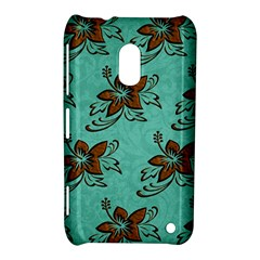 Chocolate Background Floral Pattern Nokia Lumia 620