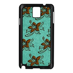 Chocolate Background Floral Pattern Samsung Galaxy Note 3 N9005 Case (black)
