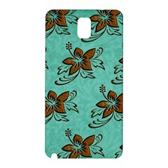Chocolate Background Floral Pattern Samsung Galaxy Note 3 N9005 Hardshell Back Case