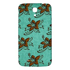 Chocolate Background Floral Pattern Samsung Galaxy Mega I9200 Hardshell Back Case