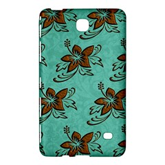 Chocolate Background Floral Pattern Samsung Galaxy Tab 4 (7 ) Hardshell Case