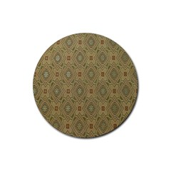 P¨|cs Hungary City Five Churches Rubber Round Coaster (4 Pack)