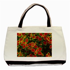 Flower Red Nature Garden Natural Basic Tote Bag (two Sides)