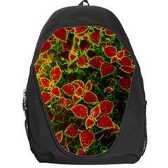 Flower Red Nature Garden Natural Backpack Bag