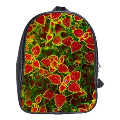Flower Red Nature Garden Natural School Bag (xl)