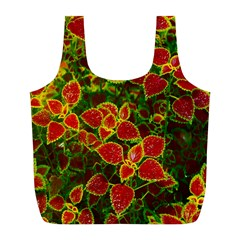 Flower Red Nature Garden Natural Full Print Recycle Bags (l)