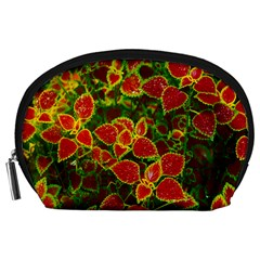 Flower Red Nature Garden Natural Accessory Pouches (large)