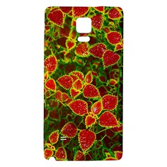 Flower Red Nature Garden Natural Galaxy Note 4 Back Case
