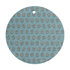 Texture Background Beige Grey Blue Ornament (round)