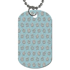 Texture Background Beige Grey Blue Dog Tag (two Sides)