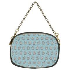 Texture Background Beige Grey Blue Chain Purses (two Sides)