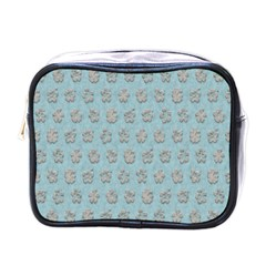Texture Background Beige Grey Blue Mini Toiletries Bags