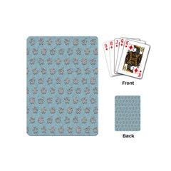Texture Background Beige Grey Blue Playing Cards (mini)