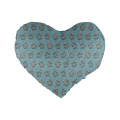 Texture Background Beige Grey Blue Standard 16  Premium Heart Shape Cushions