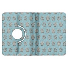 Texture Background Beige Grey Blue Kindle Fire Hdx Flip 360 Case