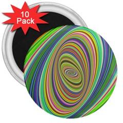 Ellipse Background Elliptical 3  Magnets (10 Pack)