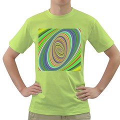 Ellipse Background Elliptical Green T Shirt